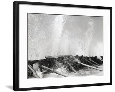 Waves Dashing against Breakwater-Philip Gendreau-Framed Photographic Print