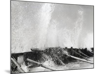 Waves Dashing against Breakwater-Philip Gendreau-Mounted Photographic Print