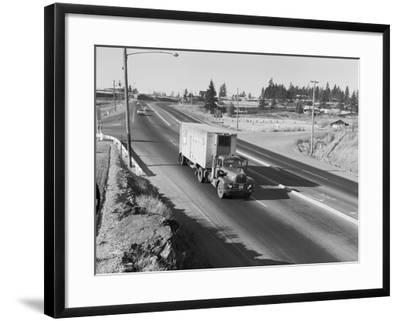 Truck Transporting Delivery to Safeway Photographic Print by