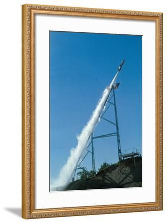 Evel Knievel's Rocket Launching--Framed Photographic Print