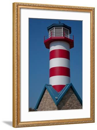 Grafton Illinois Red and White Striped Lighthouse-Joseph Sohm-Framed Photographic Print