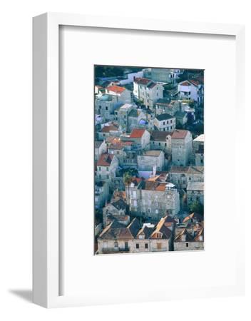 Hvar in Croatia-Peter Adams-Framed Photographic Print