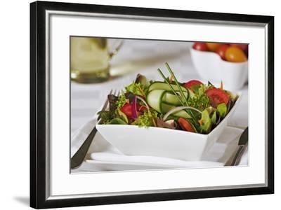 Green Salad in Bowl-Martin Harvey-Framed Photographic Print