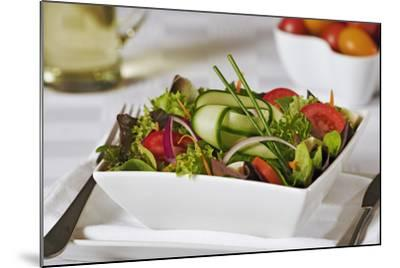 Green Salad in Bowl-Martin Harvey-Mounted Photographic Print