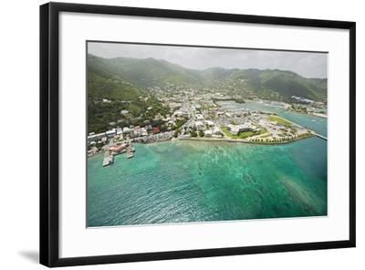 Road Town on Tortola in British Virgin Islands-Macduff Everton-Framed Photographic Print