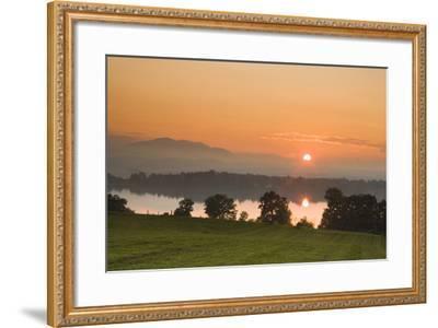 Sunset on Lake Staffelsee-Frank Lukasseck-Framed Photographic Print