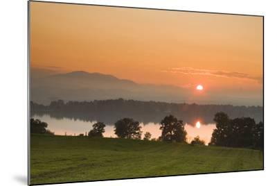 Sunset on Lake Staffelsee-Frank Lukasseck-Mounted Photographic Print
