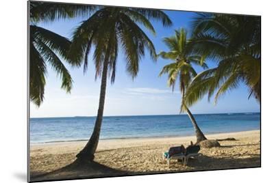 Palm Trees on Beach, Las Terrenas, Samana Peninsula, Dominican Republic-Massimo Borchi-Mounted Photographic Print