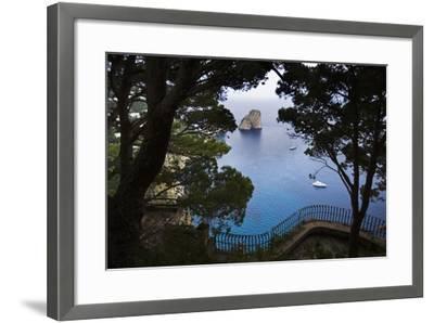 Faraglioni from Giardini (Gardens) Di Augusto, Capri, Capri Island, Campania, Italy-Massimo Borchi-Framed Photographic Print