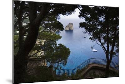 Faraglioni from Giardini (Gardens) Di Augusto, Capri, Capri Island, Campania, Italy-Massimo Borchi-Mounted Photographic Print