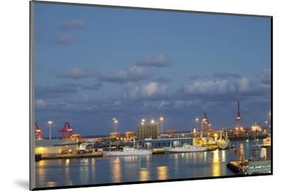 Harbor at Night, Las Palmas, Gran Canaria, Spain-Guido Cozzi-Mounted Photographic Print