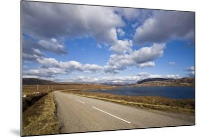 Landscape with Road, Lake and Clouds,Scotland, United Kingdom-Stefano Amantini-Mounted Photographic Print