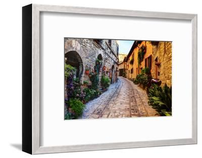 Street in Spello, Italy-Terry Eggers-Framed Photographic Print
