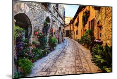 Street in Spello, Italy-Terry Eggers-Mounted Photographic Print