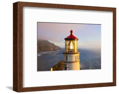 Heceta Head Lighthouse, Oregon Coast, Pacific Ocean, Pacific Northwest-Craig Tuttle-Framed Photographic Print