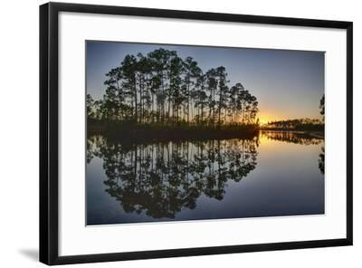 Sunset in Long Pine Area of Everglades NP-Terry Eggers-Framed Photographic Print