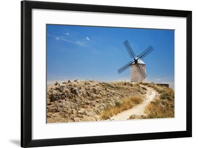 Antique La Mancha Windmills in Consuegra, Spain-Julianne Eggers-Framed Photographic Print