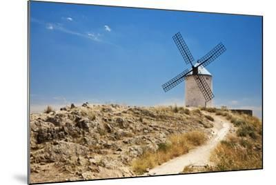 Antique La Mancha Windmills in Consuegra, Spain-Julianne Eggers-Mounted Photographic Print