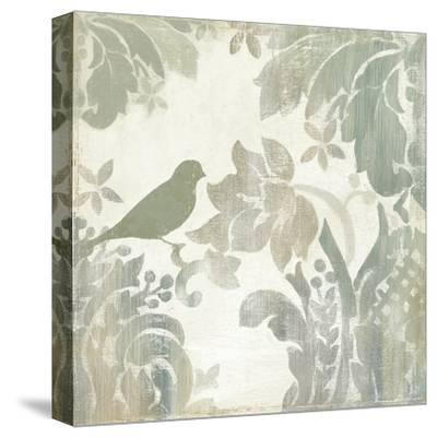 Damask Bird I-Asia Jensen-Stretched Canvas Print