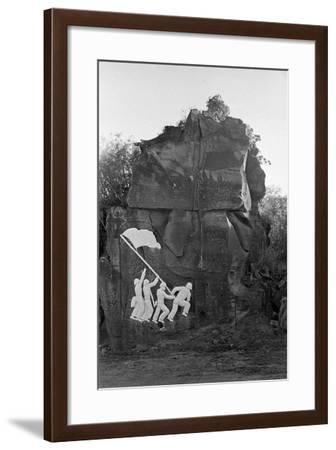 Sculpture of the Fall of Iwo Jima--Framed Photographic Print