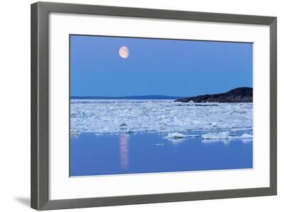 Full Moon and Melting Sea Ice, Repulse Bay, Nunavut Territory, Canada-Paul Souders-Framed Photographic Print