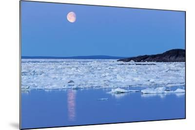 Full Moon and Melting Sea Ice, Repulse Bay, Nunavut Territory, Canada-Paul Souders-Mounted Photographic Print