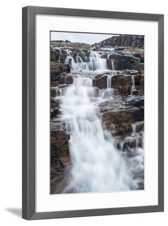 Waterfall, Hudson Bay, Nunavut, Canada-Paul Souders-Framed Photographic Print