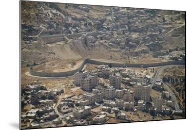 Aeriel View of the Wall Dividing Israel from the West Bank to Prevent Terror Attacks-Hal Beral-Mounted Photographic Print