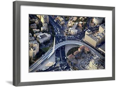 Air View of the Calatrava Bridge.-Stefano Amantini-Framed Photographic Print