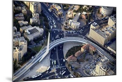 Air View of the Calatrava Bridge.-Stefano Amantini-Mounted Photographic Print