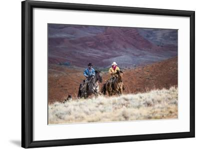 Cowboys at Full Gallop-Terry Eggers-Framed Photographic Print