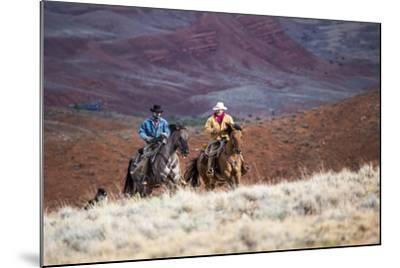 Cowboys at Full Gallop-Terry Eggers-Mounted Photographic Print