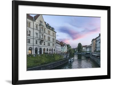 Ljubljana River Sunset-Rob Tilley-Framed Photographic Print