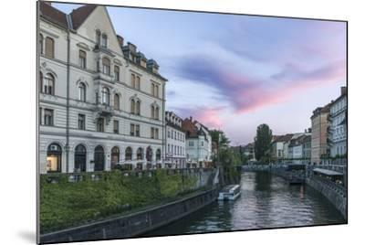 Ljubljana River Sunset-Rob Tilley-Mounted Photographic Print
