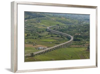 Segesta, Highway-Guido Cozzi-Framed Photographic Print