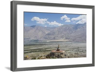 Diskit Monastery, the Giant Buddha-Guido Cozzi-Framed Photographic Print