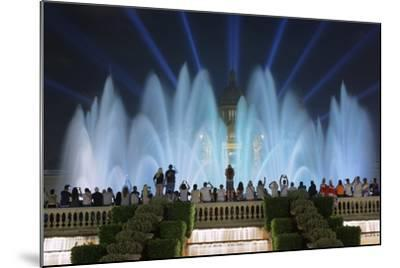 The Magic Fountain Light Show in Front of the National Palace, Barcelona.-Jon Hicks-Mounted Photographic Print