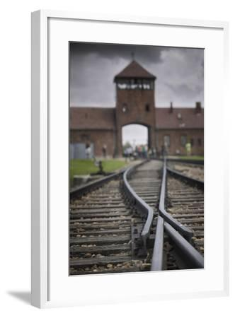 Railroad Tracks Leading into KL Auschwitz II-Jon Hicks-Framed Photographic Print