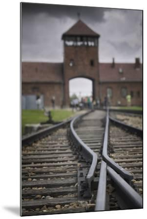 Railroad Tracks Leading into KL Auschwitz II-Jon Hicks-Mounted Photographic Print