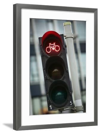 Bicycle Traffic Light-Jon Hicks-Framed Photographic Print