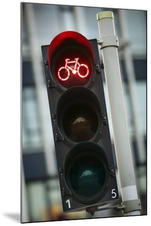 Bicycle Traffic Light-Jon Hicks-Mounted Photographic Print