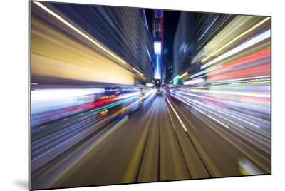 Street Lights from Hong Kong Tramway Street Car, China-Paul Souders-Mounted Photographic Print