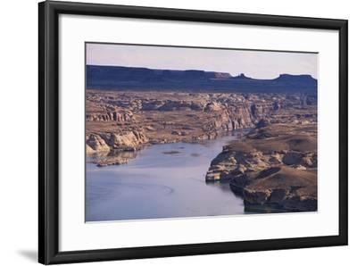 Lake among Desert Landforms-DLILLC-Framed Photographic Print