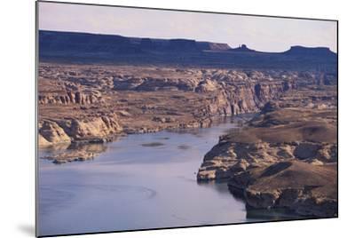 Lake among Desert Landforms-DLILLC-Mounted Photographic Print