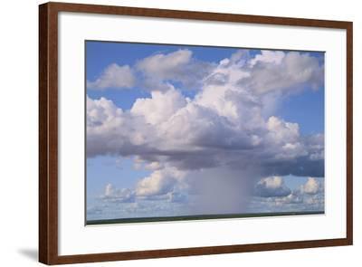 Cumulus Clouds Forming a Rainstorm-DLILLC-Framed Photographic Print