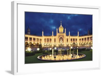 Tivoli Fountain and Main Building at Night-Jon Hicks-Framed Photographic Print