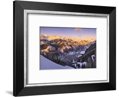 Telluride at Sunset-Jon Hicks-Framed Photographic Print