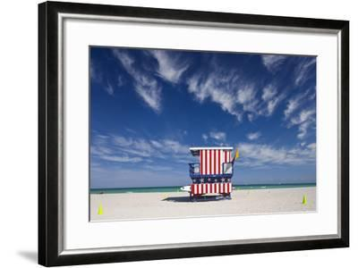 13Th Street Lifeguard Station on Miami Beach-Jon Hicks-Framed Photographic Print