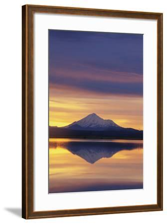 Mountain Reflected in Lake-DLILLC-Framed Photographic Print