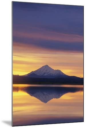 Mountain Reflected in Lake-DLILLC-Mounted Photographic Print